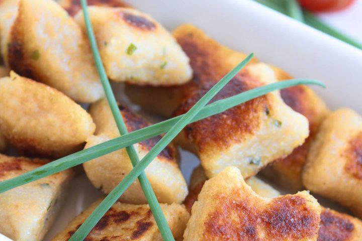 Garlic and Chive Potato Dumplings