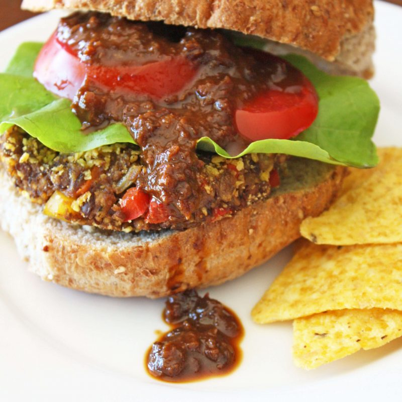 Black Bean Pumpkin Burger
