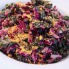 Crunchy Kale and Cabbage with Creamy Walnut Dressing
