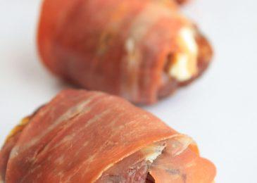 Pancetta Wrapped Stuffed Dates