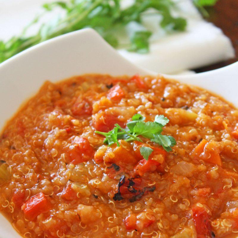 Roasted Tomato and Quinoa Soup