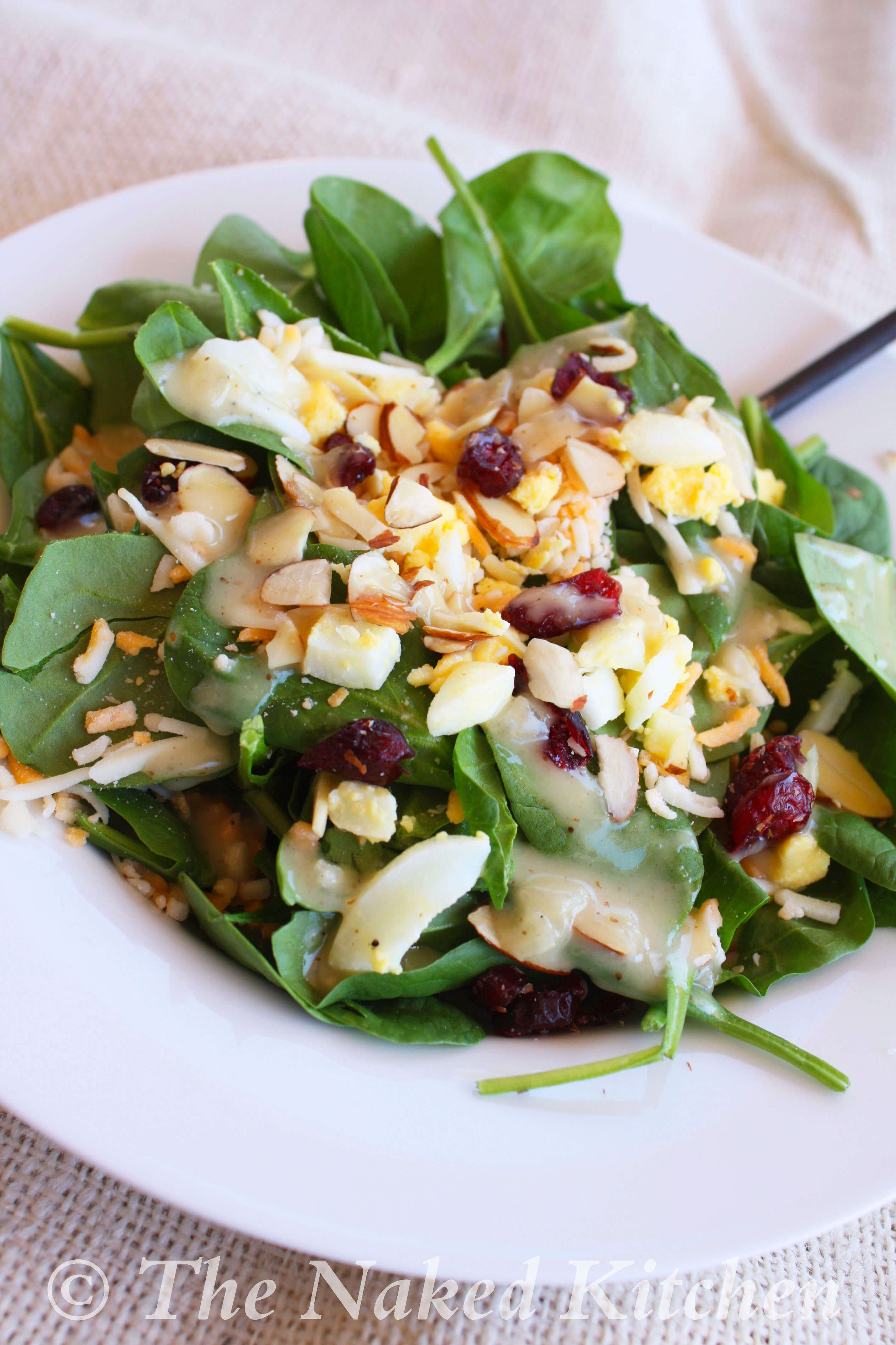Spinach Salad with Smoky Sweet and Sour Dressing