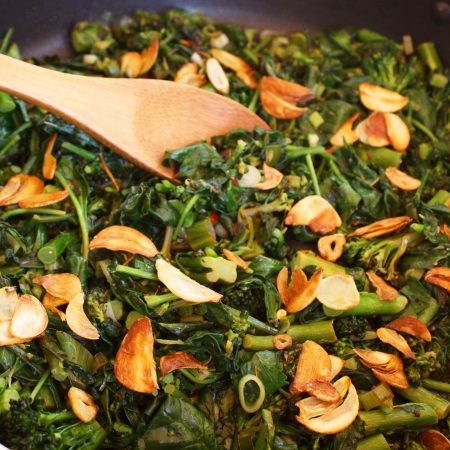 Very Green and Garlicky Sauté