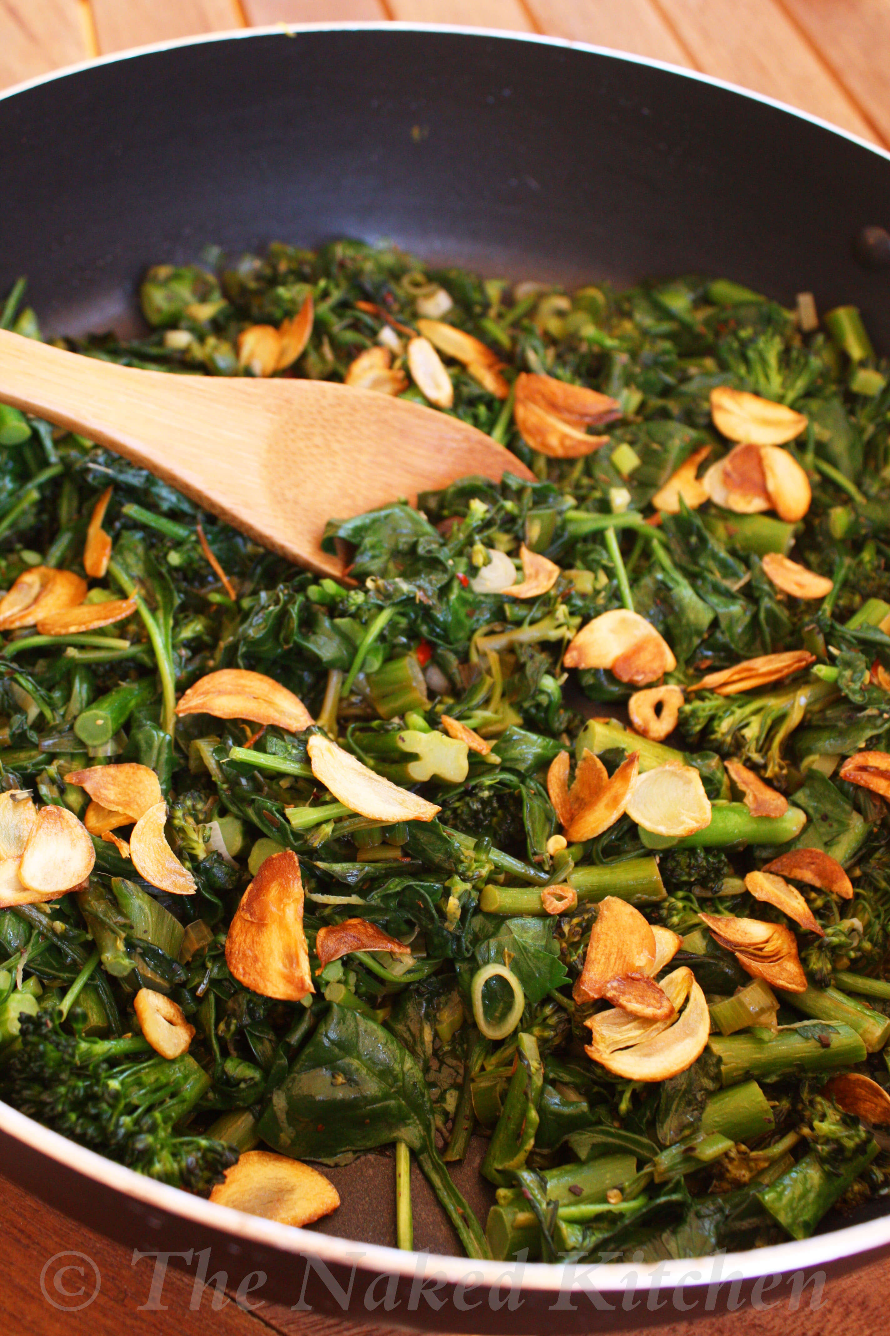 Very Green and Garlicky Sauté