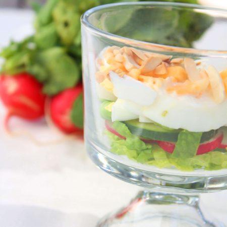 7 Layer Salad with Creamy Poppyseed Dressing
