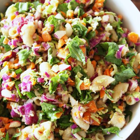 Chopped Salad with Creamy Vinaigrette Dressing