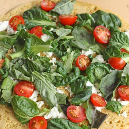 Gluten Free Pizza Margherita with Tatsoi