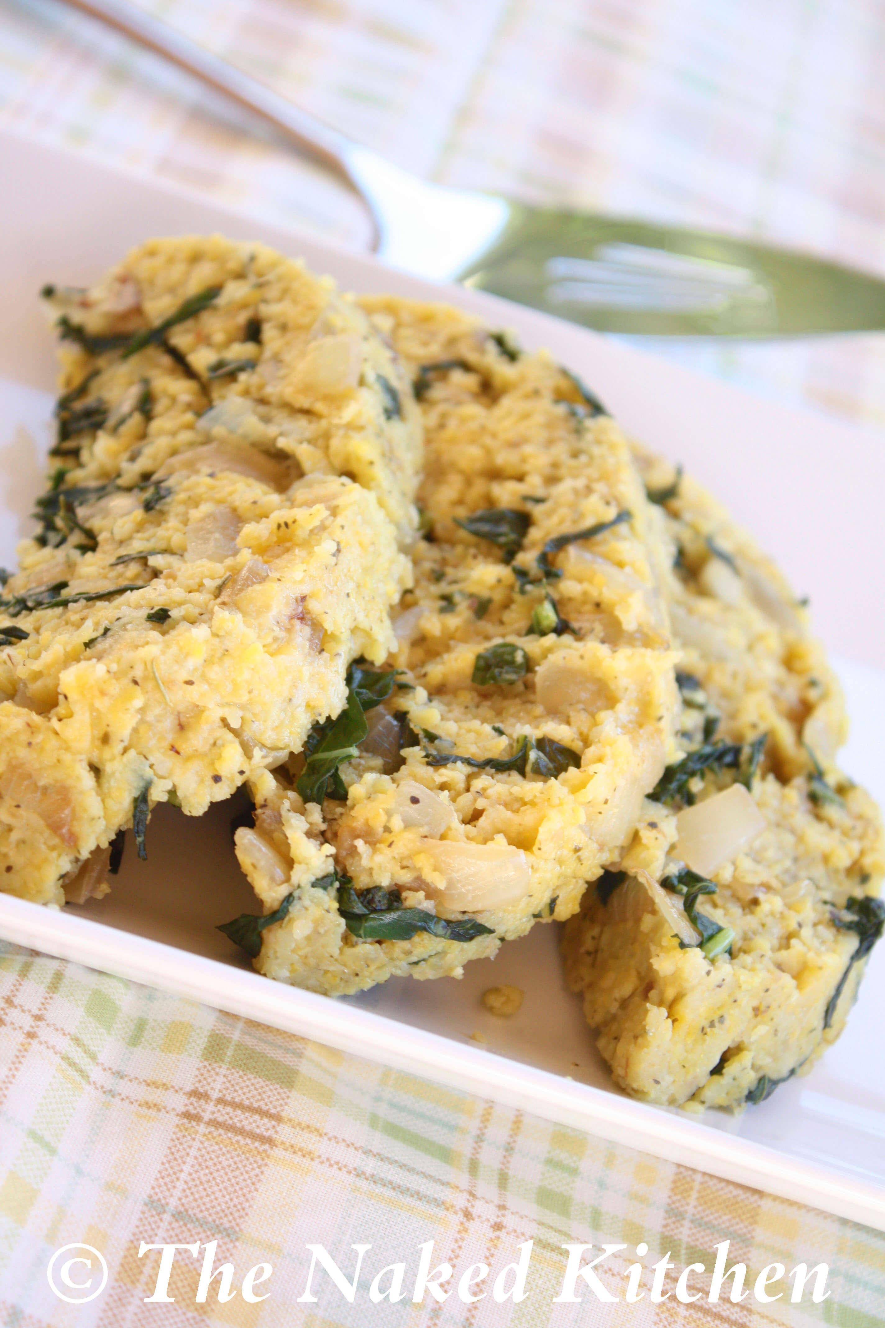 Herbed Polenta with Kale