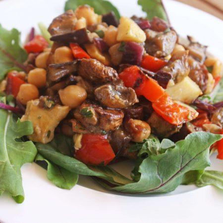 Mediterranean Roasted Vegetable and Chickpea Salad