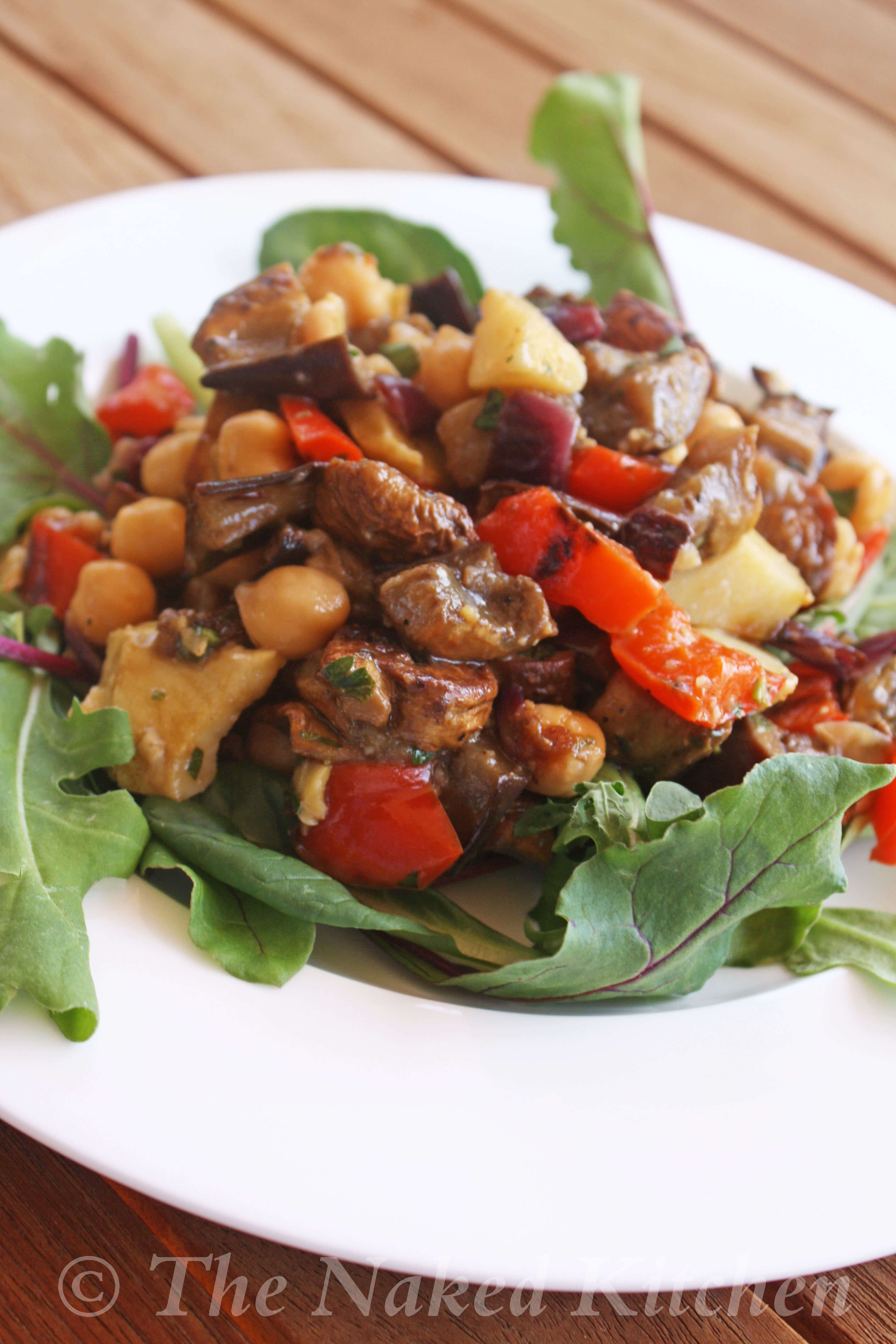 Mediterranean Roasted Vegetable and Chickpea Salad