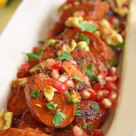 Pomegranate Glazed Roasted Carrots