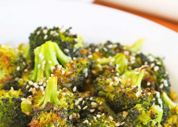 Roasted Broccoli with Sweet Miso Dressing