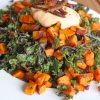 Root to Skin Sweet Potato, Carrot and Kale Salad