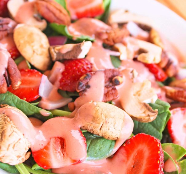 Spinach Salad with Spring Surprise Dressing