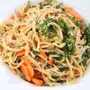 Sweet Miso Noodle Salad with Baby Kale