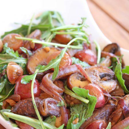 Warm Mushroom and Grape Salad