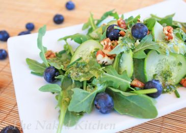 Arugula, Blueberry and Cucumber Salad