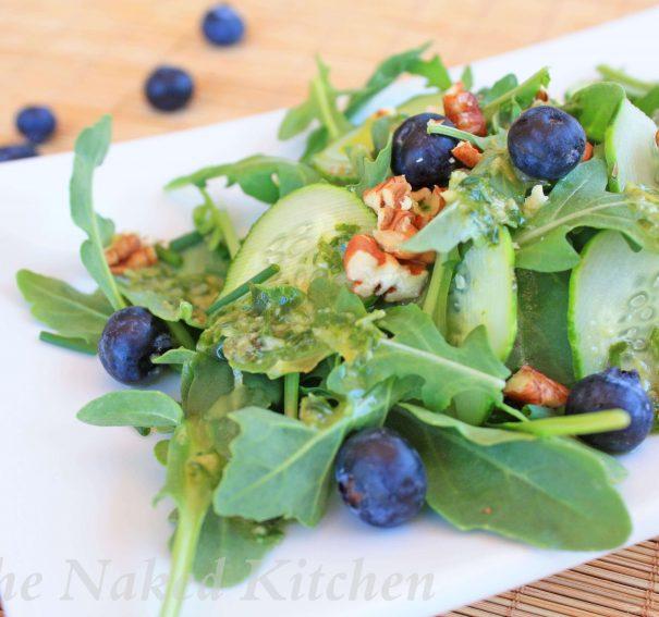 Arugula, Blueberry and Cucumber Salad