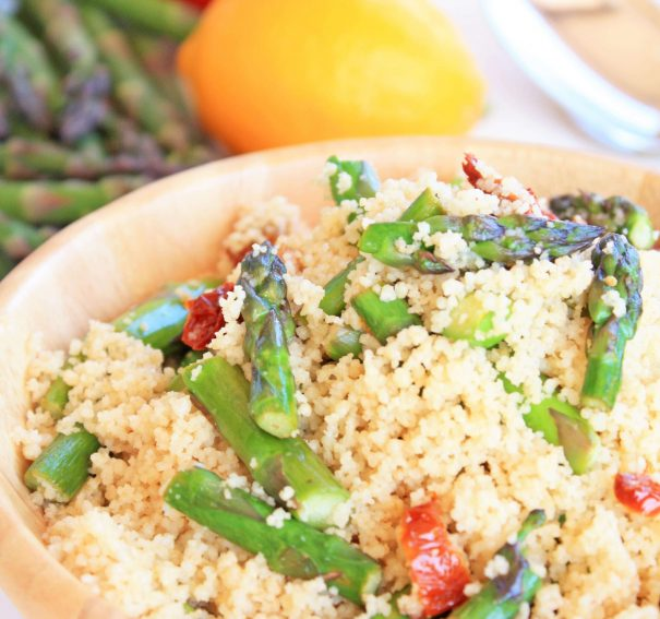 Asparagus and Sun Dried Tomato Couscous Salad
