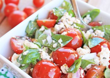 "Cherry Tomato Salad with ""Feta"" Cheese"