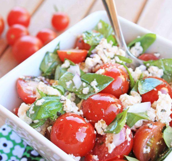 "Cherry Tomato Salad with ""Feta"" Cheese"