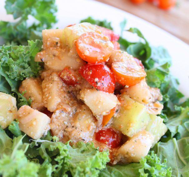 Farmers Market Salad with Shallot Vinaigrette