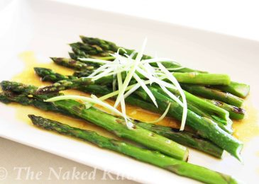 Grilled Asparagus with Sweet and Sour Dressing