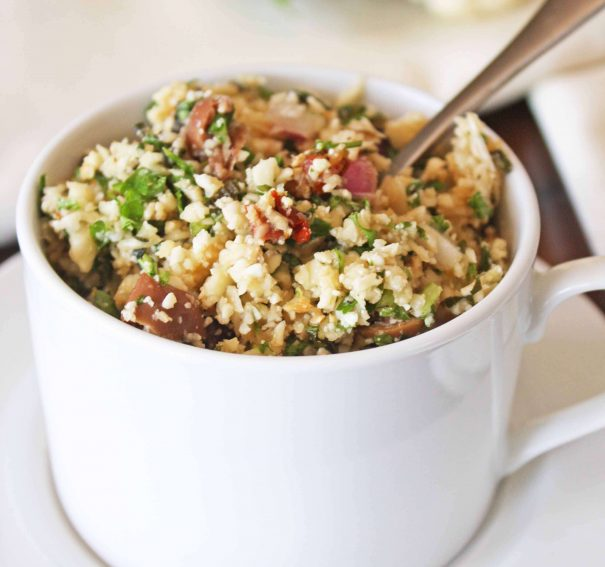 Raw Cauliflower Couscous