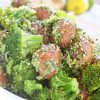 Red Potatoes and Broccoli with Spicy Cilantro Hemp Seed Pesto