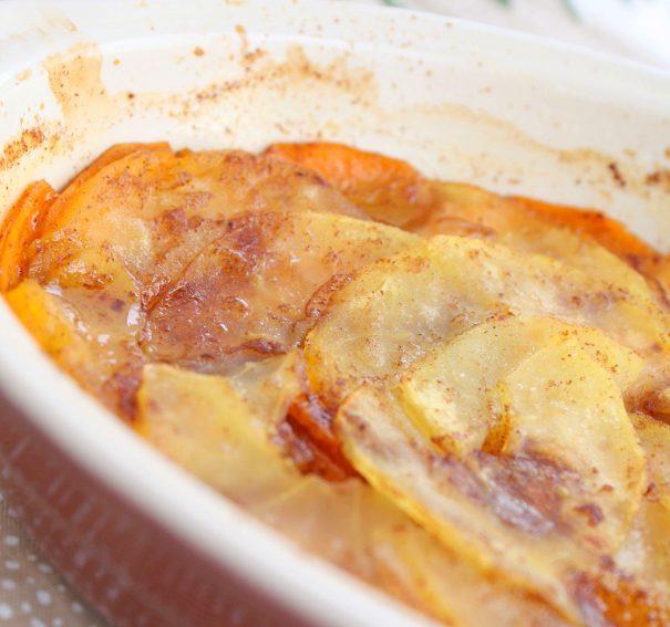 Scalloped Sweet Potato and Apple