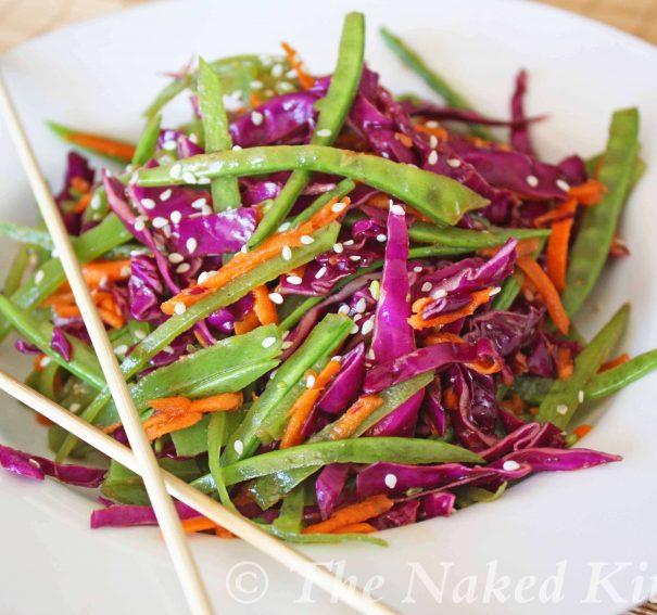 Sesame Snow Pea Salad
