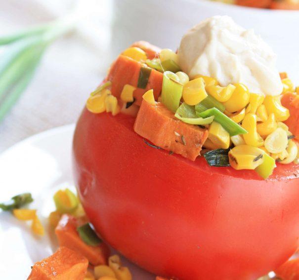 Summer Sweet Potato Salad with Garlic Dijonnaise
