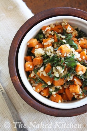 Sweet Potato, Kale and Bulgar