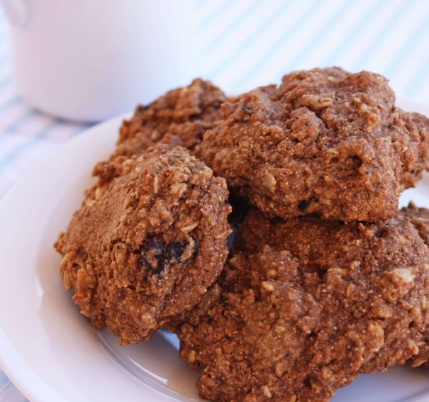 Mexican Chocolate Oatmeal Raisin Cookies