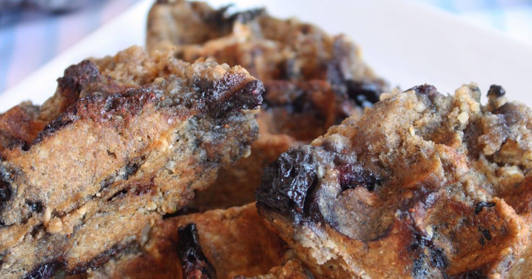Omega Blueberry Waffles