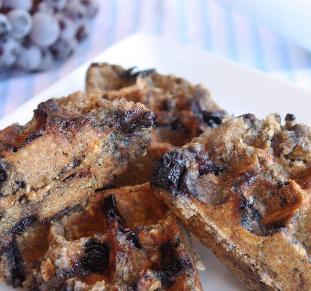 Omega Blueberry Waffles