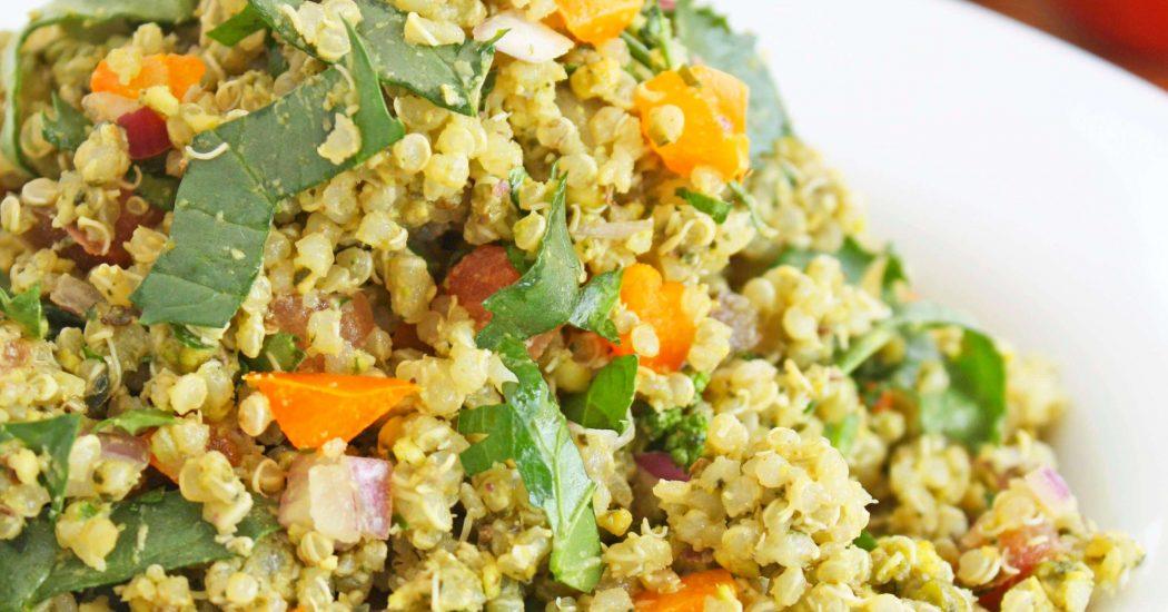 Pistachio Pesto Quinoa Salad
